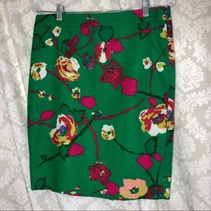 J. Crew floral skirt 6 New with Tags
